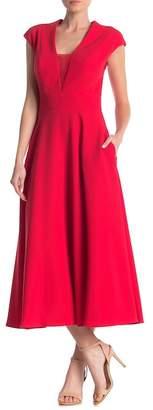 Mae ALLEN SCHWARTZ Deep V-Neck Shift Dress