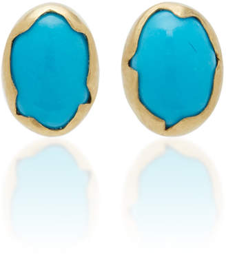 Annette Ferdinandsen Eggs 18K Gold Turquoise Earrings