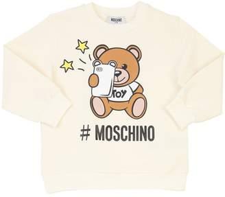 43d97cf9a Moschino Bear Print Cotton Fleece Sweatshirt