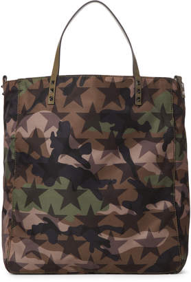 Valentino Medium Star Camo Tote