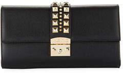 Mario Valentino Valentino By Cocotte Palmellato Leather Clutch/Crossbody Bag