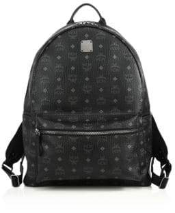 MCM Stark Coated Canvas Monogram Backpack