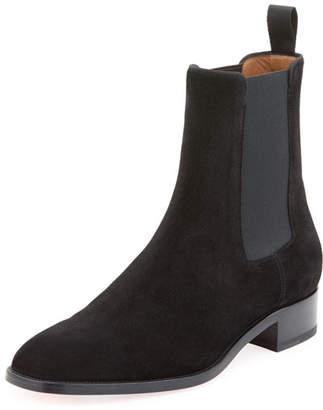 Christian Louboutin Men's Samson Suede Boot, Black