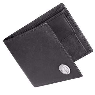 Drew Lennox - Luxury English Leather Men's Billfold Wallet in Charcoal Black