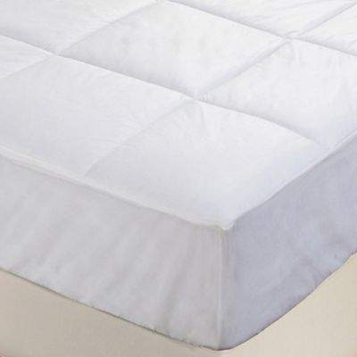 Everfresh Antibacterial Water Resistant XL Twin Mattress Pad in White