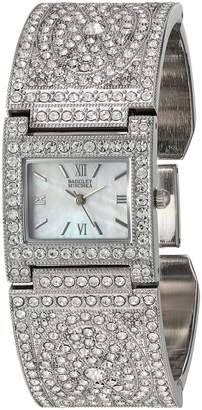 Badgley Mischka Women's Quartz Metal and Alloy Dress Watch, Color:-Toned (Model: BA/1365MPSV)