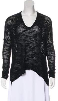 Helmut Lang Silk Long Sleeve Sweater