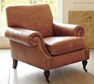 Pottery Barn Brooklyn Leather Armchair