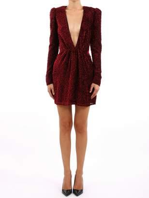Saint Laurent Red Devore Dress