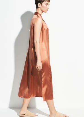 Sleeveless Drape Neck Dress