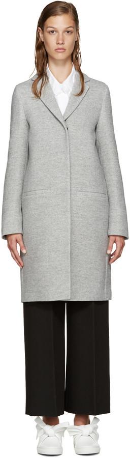 MSGM Grey Oversized Coat