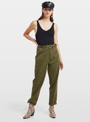 Miss Selfridge Khaki Belted Utility Trouser