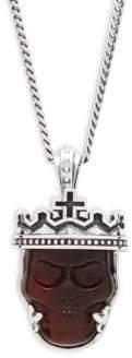 King Baby Studio Sterling Silver Skull Pendant Necklace
