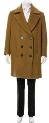 Faith Connexion Wool Double- Breasted Peacoat