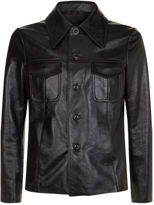 Maison Margiela Buttoned Leather Jacket