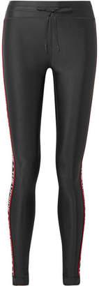 The Upside Star Fast Striped Stretch Leggings - Black