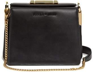 Prada Sybille Leather Cross Body Bag - Womens - Black
