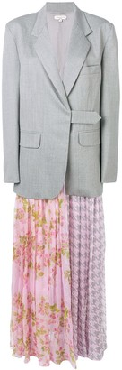 Natasha Zinko printed pleated skirt blazer