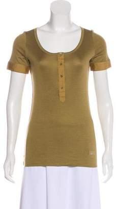 Gucci Silk-Blend Short Sleeve Top