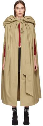 Valentino Beige Sleeveless Trench Coat