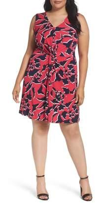 Leota Twist Front Jersey Dress