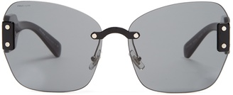 Butterfly-frame acetate sunglasses