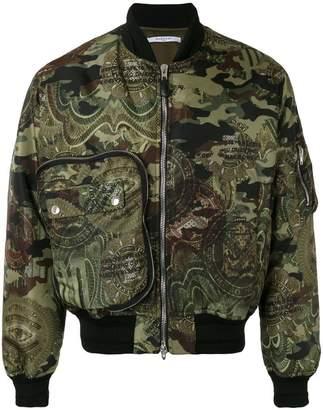 Givenchy camouflage bomber jacket
