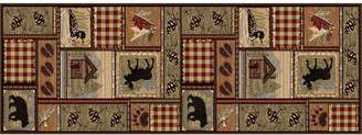 """Khl Rugs KHL Rugs Nature Lodge Cabin Rug Runner - 2'7"""" x 7'3"""""""
