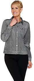 Joan Rivers Classics Collection Joan Rivers Cropped Faux Suede Jacket