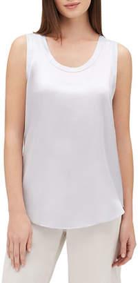 Lafayette 148 New York Perla Luxe Reversible Silk Charmeuse Shell