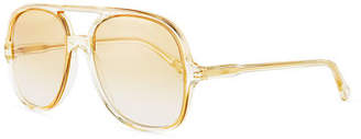 Chloé Oversized Plastic Square Pilot Sunglasses