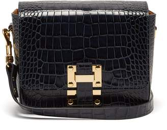 Sophie Hulme Quick crocodile-embossed leather cross-body bag
