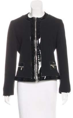 Michael Kors Collarless Wool Jacket