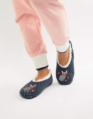 Sock Shop Frenchie Slipper
