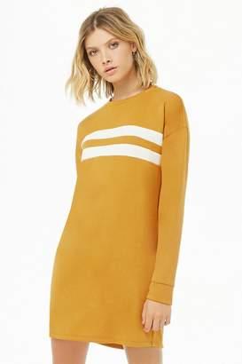 Forever 21 French Terry Varsity Sweatshirt Dress