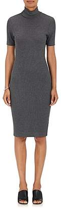 L'Agence WOMEN'S AMI RIB-KNIT MOCK-TURTLENECK DRESS