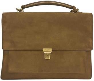 Saint Laurent High School Camel Suede Handbag