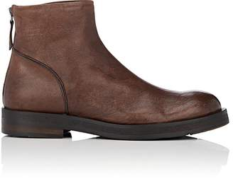 Barneys New York Men's Leather Back-Zip Boots