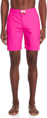 Solid & Striped Neon Pink Board Shorts
