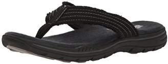 Skechers Men's 65091 Open Toe Sandals, (Black), 43 EU