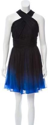 Halston Pleated Mini Dress w/ Tags