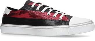Saint Laurent Striped Bedford Low-Top Sneakers