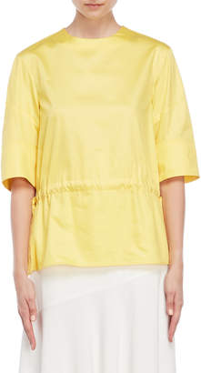 Jil Sander Bright Yellow Drawstring Blouse