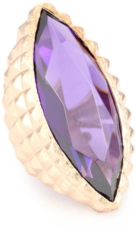 """Noir New Novelty"""" Rose Gold and Purple Cocktail Ring"""