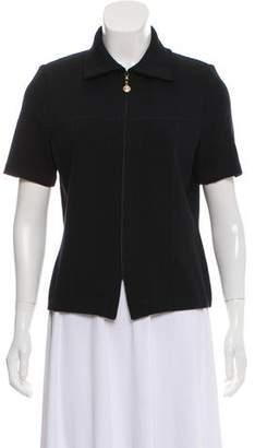 St. John Short Sleeve Knit Cardigan