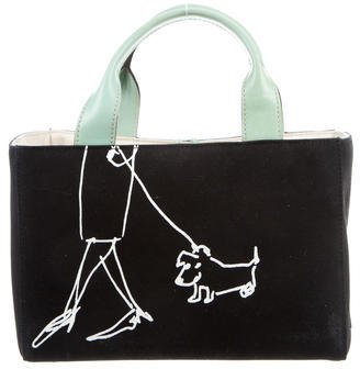 Kate SpadeKate Spade New York Leather-Trimmed Woven Bag