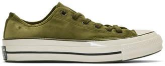Converse Green Velvet Chuck 70 OX Sneakers