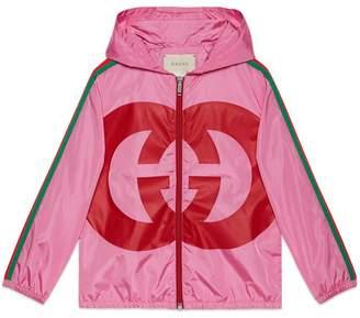 Gucci Children's nylon jacket with Interlocking G
