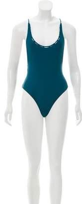 JADE SWIM Viridian Chain Reaction One-Piece Swimsuit w/ Tags