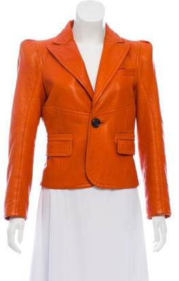 DSQUARED2 Structured Leather Jacket